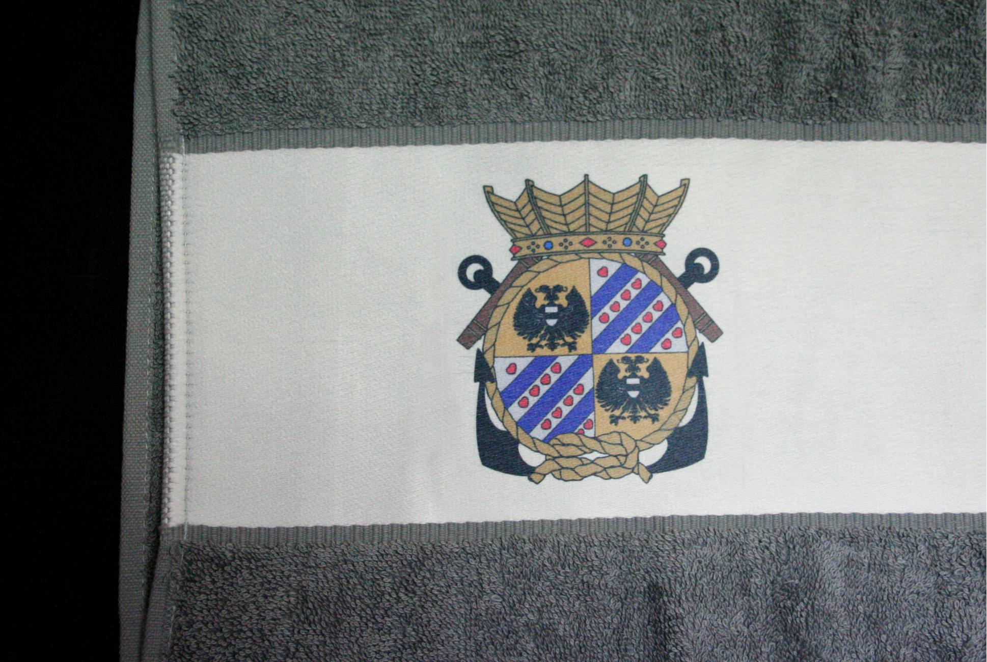 Voorbeeld sublimeren handdoek met band